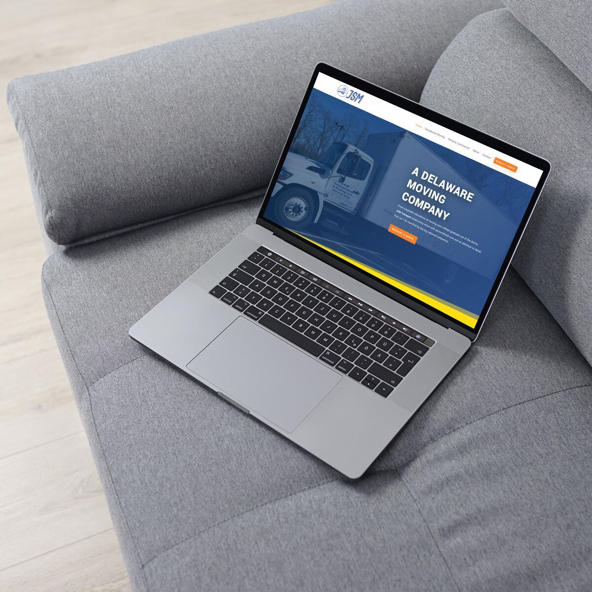 Moving company website design from BrandSwan, a Delaware web design agency