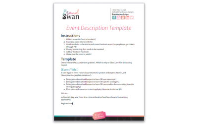 Event Description Template