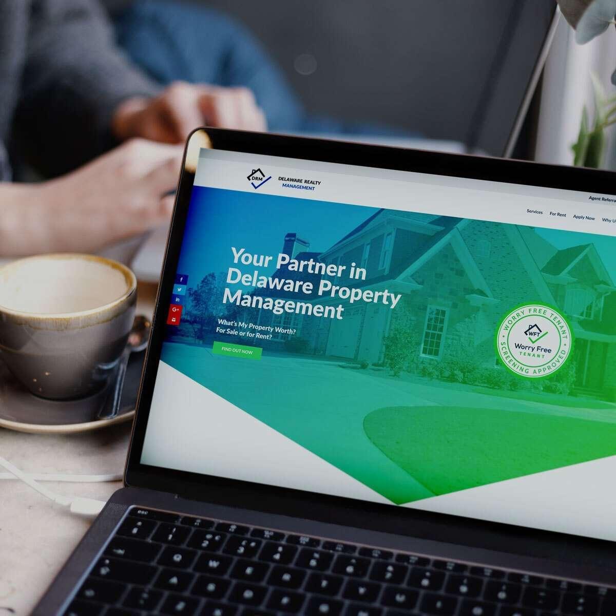 Property management website design from BrandSwan, a Delaware web design agency