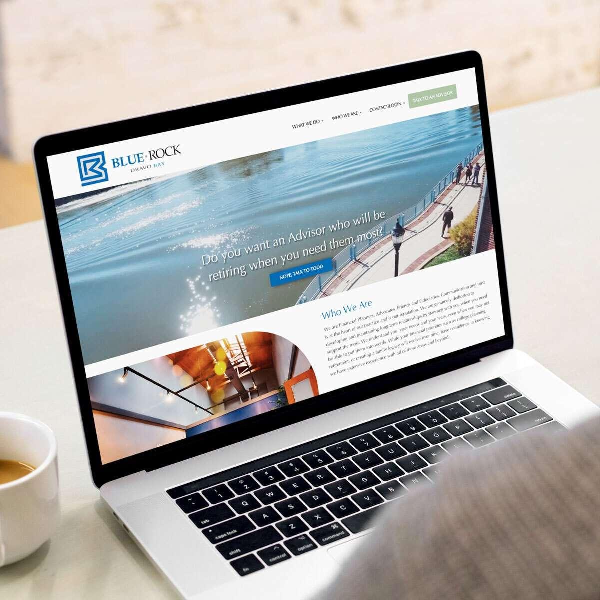 Financial advisor website design from BrandSwan, a Delaware web design agency