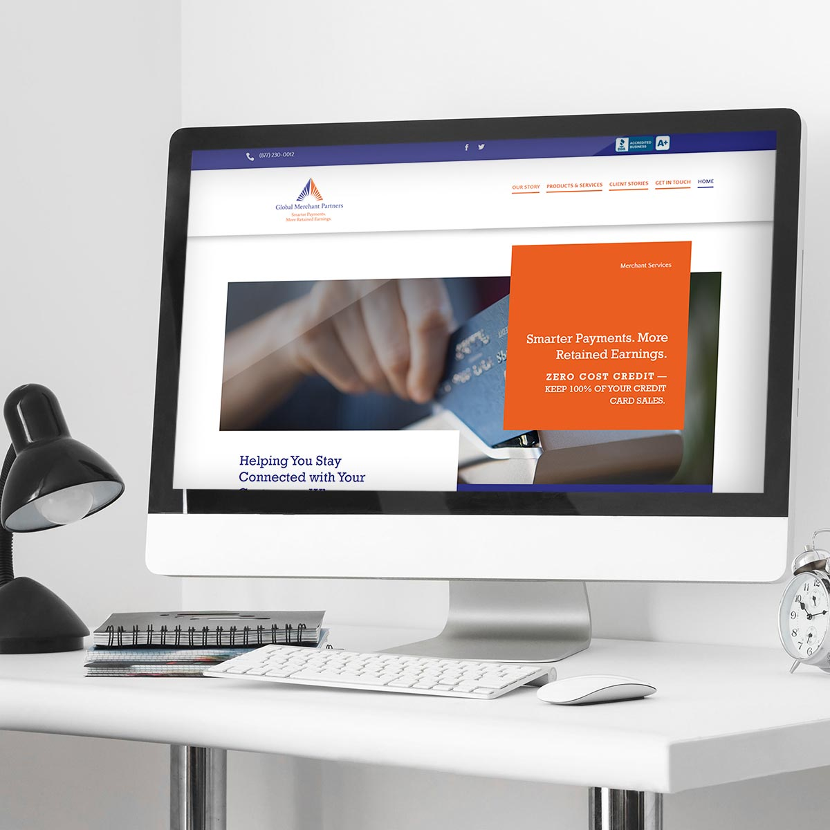 Merchant solutions website design by BrandSwan, a Delaware branding agency