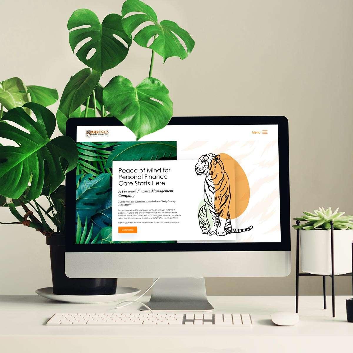 Finance management website design by BrandSwan, a Delaware branding agency