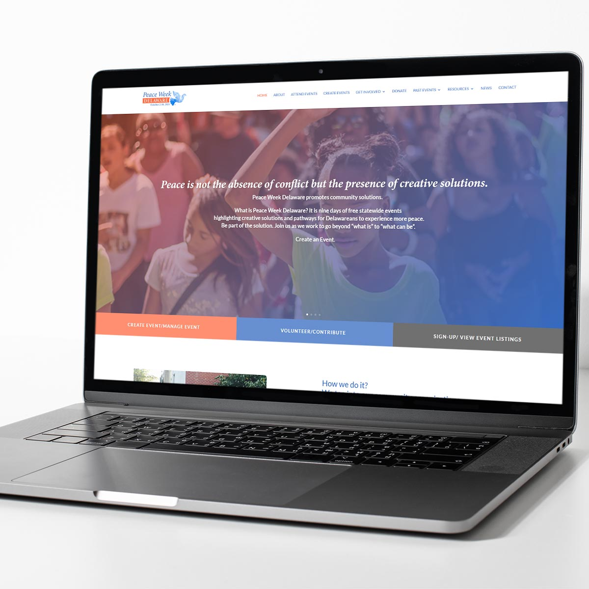 Non-profit website design by BrandSwan, a Delaware branding agency