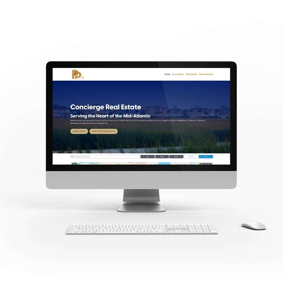 Real estate website design by BrandSwan, a Delaware branding agency