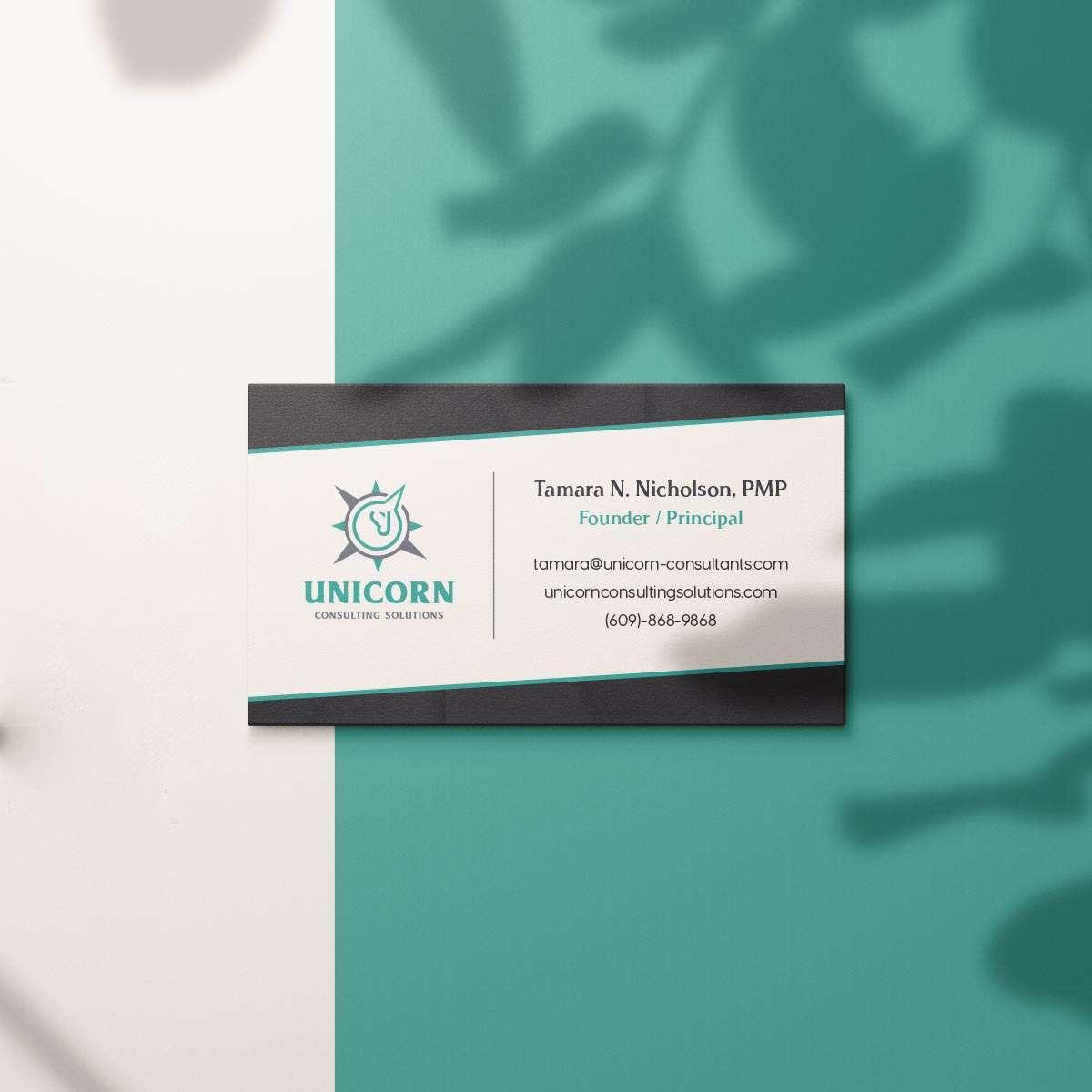 Program management business card by BrandSwan, a Delaware branding agency